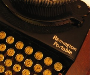 Remington typewriter closeup
