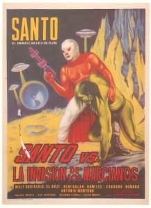 "Poster for ""Santo vs. the Martian Invasion"""