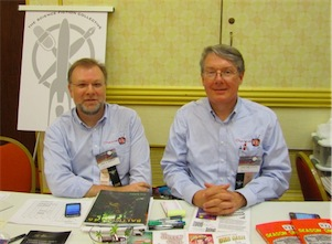 Paul and Gary at the Science Fiction Collective table at Balticon 46